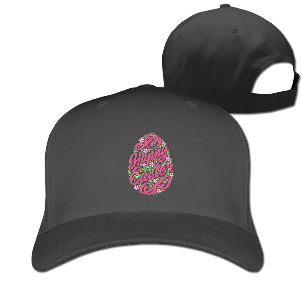 Happy Eastes Day Fashion Adjustable Cotton Baseball Caps Trucker Driver Hat Outdoor Cap Black
