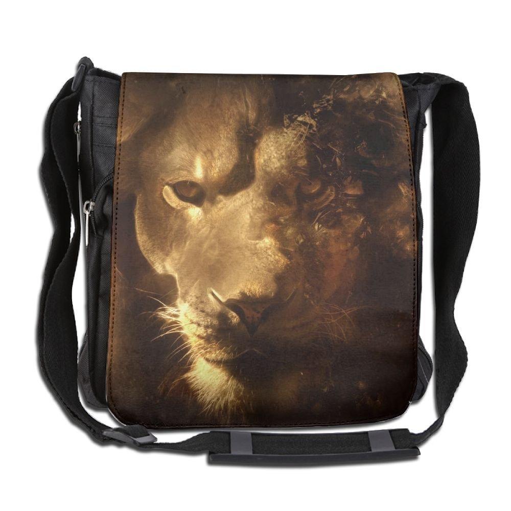 bd51d14abf chic Unisex Narrow Diagonal Shoulder Bag Fire Lion Eyea Printed Casual Messenger  School Adjustable Shoulder Tote