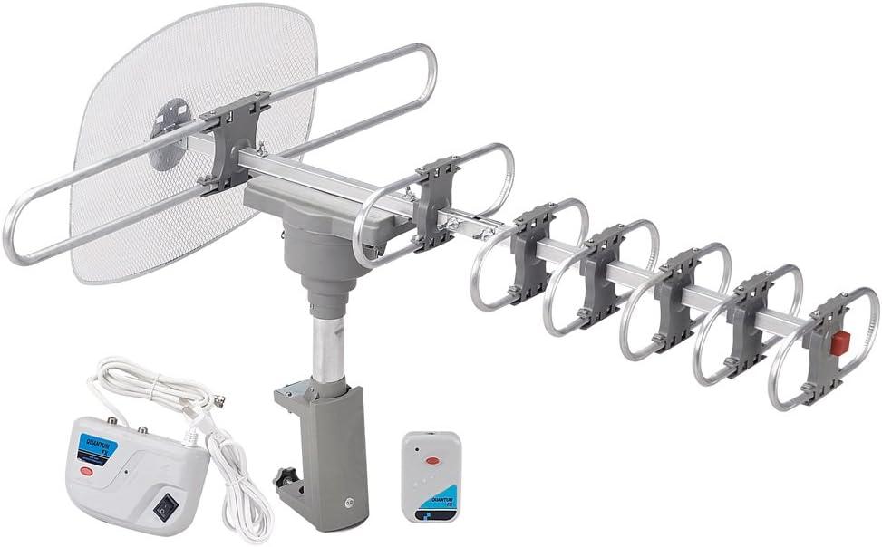 QuantumFX QFX ANT-105 HD//DTV//UHF//VHF//FM 360 Degree Motorized Rotating Antenna