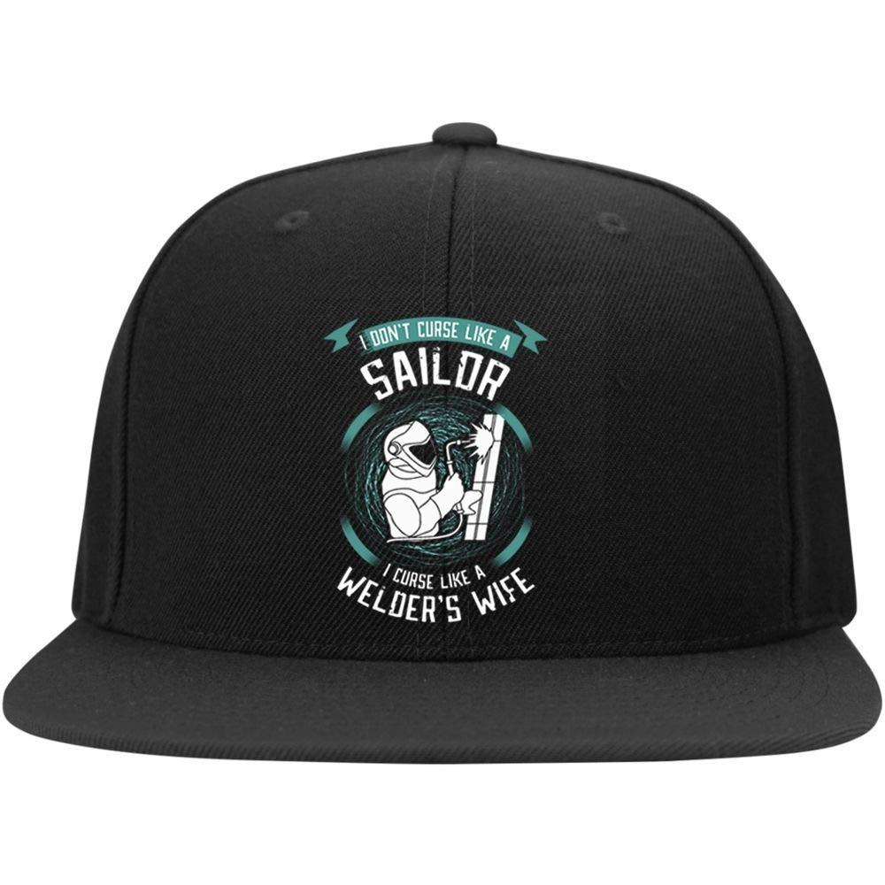 Im A Welders Wife Profile Snapback Hat FLOSTORE I Curse Like A Welders Wife Cap