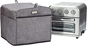 HOMEST Toaster Oven Dust Cover with Accessory Pockets Compatible with Cuisinart TOA-28 Compact Toaster Oven AirFryer, Grey