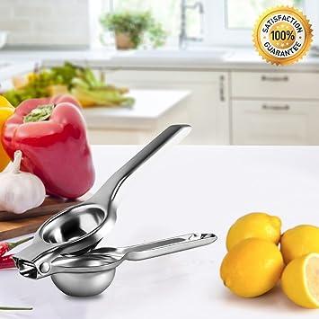 Exprimidor de limón exprimidor manual exprimidor profesional cocina Gadgets Top Rated Premium calidad Metal acero inoxidable lima limón exprimidor: ...