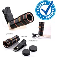 CLUB INDIA 8X Zoom Mobile Lens Telescope for Universal Phone Clip-on DSLR Like Camera Compatible with All Android, iOS and Windows Devices