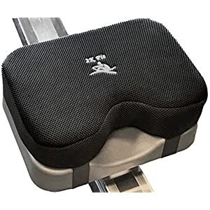 Rowing Machine Seat Cushion (Model 2) That Perfectly fits Concept 2 with Thicker Memory Foam, Washable Cover, and Straps Also Works Great with Exercise Recumbent Stationary Bike