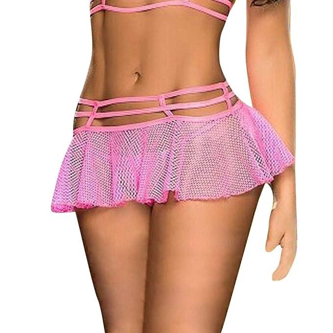 c95e1d787 Minifalda de Malla Falda Tanga Lenceria Erotica de Mujer Vestido de ...