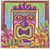 Amscan Sun-Sational Summer Luau Party Tropical Tiki Luncheon Napkins Tableware, 125 Pieces, Made from Paper by