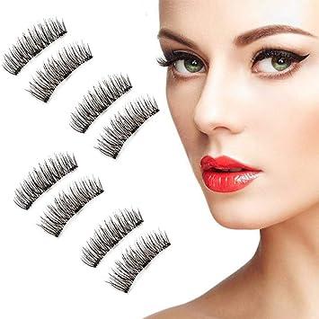 0ab6f3bc0b8 Beatife Natural Fake Magnetic Eyelashes, 3D Three Magnets Ultra Thin Soft,  Glamorous, Natural
