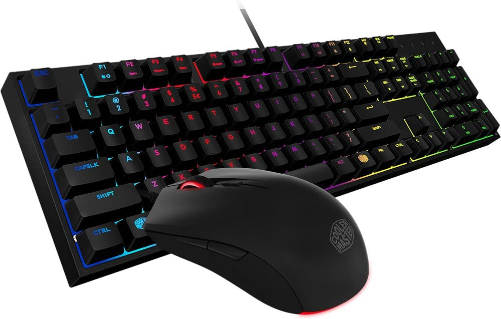 Amazon Com Cooler Master Sgb 3040 Kkmf1 Us Masterkeys Lite L Gaming Keyboard Mouse Combo 6 Zoned Rgb Led Backlit On The Fly Computers Accessories