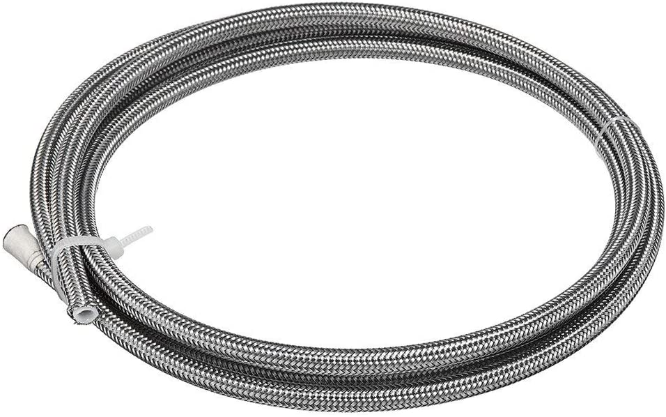 2m AN3 Braided Stainless Steel 3AN AN3 an-3 Brake Hose PTEF Hydraulic Brake Fuel Line Hose