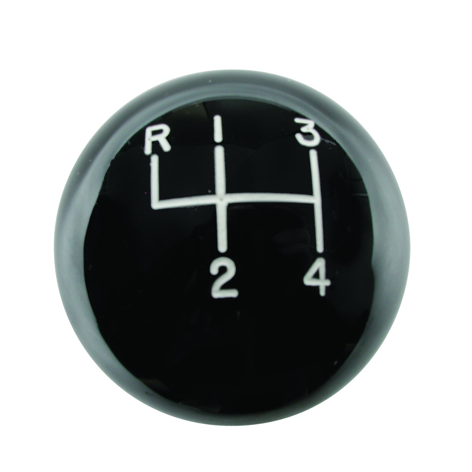 Hurst 1630103 Shift Knob - Black 4 Speed 3/8-16 Threads - Upper/left Reverse Pattern Manual Transmission Shift Knob Shift Knob - Black 4 Speed 3/8-16 Threads