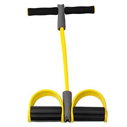 Kemket Fitness Body Trimmer Exercise Foam Rubber Bodybuilding Foam Foot Pedal Arm Tummy Stretching Pull up Rope Elastic Expander And Foot Pedal Arm Tummy Stretching Pull up Spring Expander.