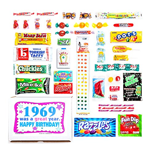 Woodstock Candy 1958 60th Birthday Gift Box Nostalgic Retro Mix From Childhood For 60 Year Old Man Or Woman Born Jr Christmas Shop