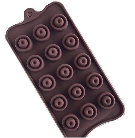 SHINA 15 rejilla personalizado nuevos dobles moldes para chocolate redondas