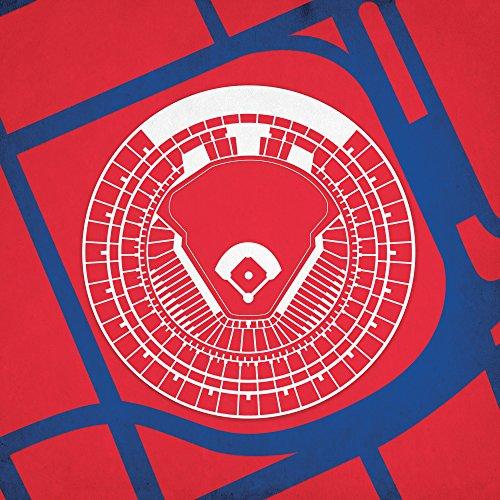 Old Busch Stadium Map Art, 14