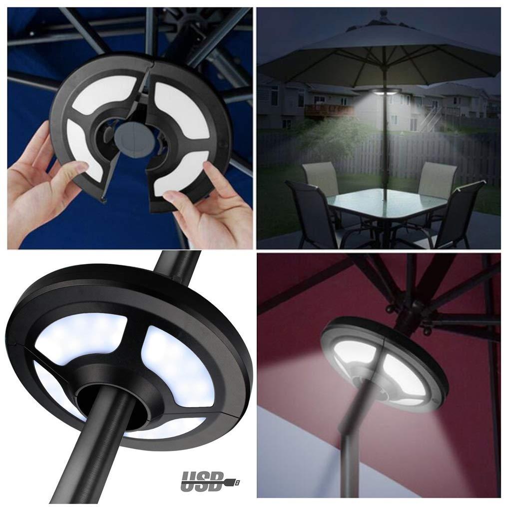 LAMPSJN Patio Umbrella Light, Cool White 2 Brightness Modes Cordless 36 LED Lights Battery Operated, Umbrella Pole Light for Patio Umbrellas, Camping Tents, Beach Umbrella (Size : OneSize) by LAMPSJN