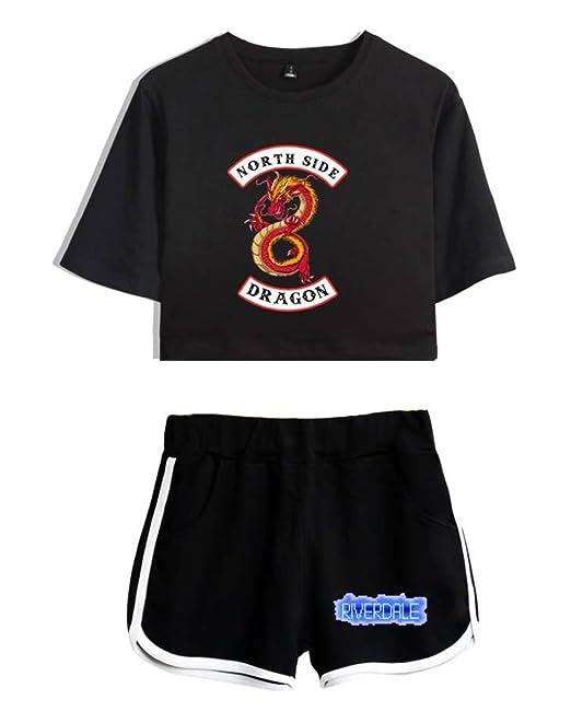 ZIGJOY Riverdale Crop Top T-Shirts and Shorts Traje de Ropa para niñas y Mujeres: Amazon.es: Ropa y accesorios