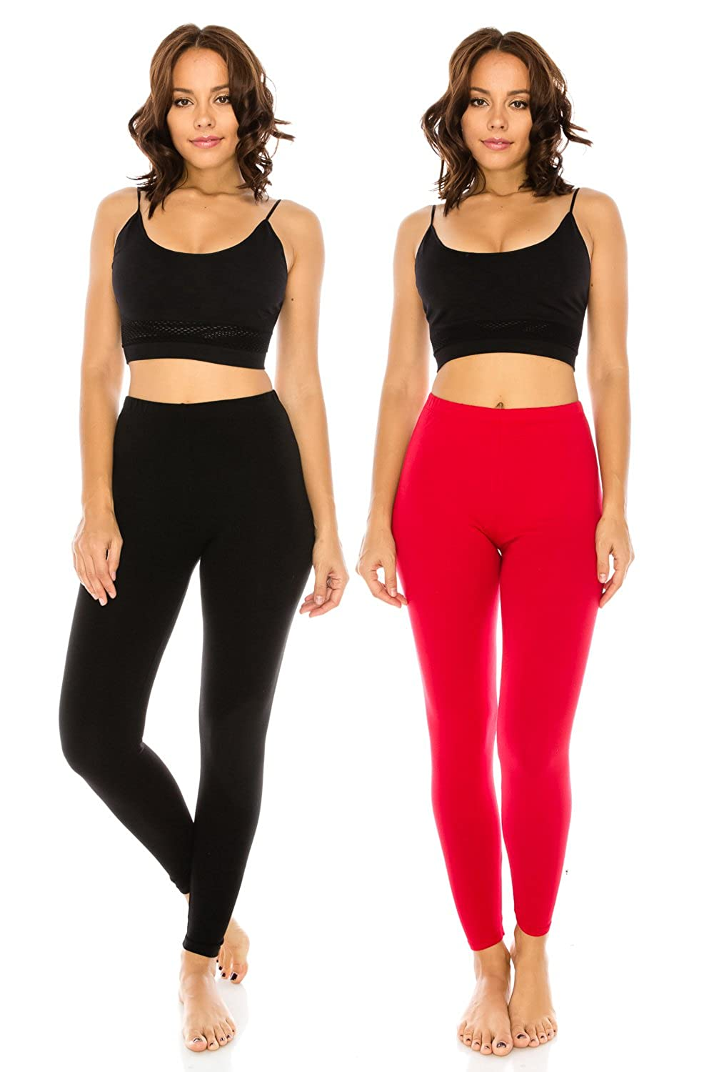 Blkred The Classic Women's Stretch Jersey Sports Yoga Full Length Leggings Pants