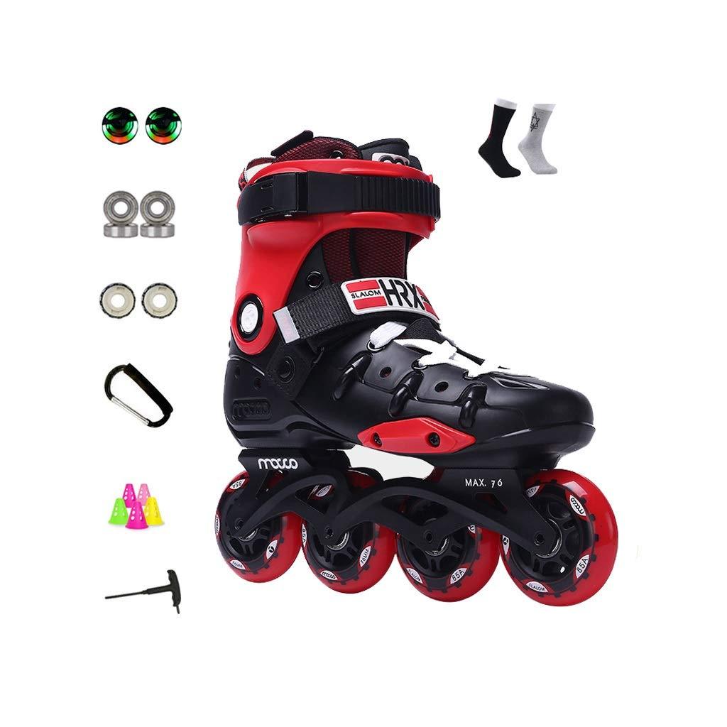 Ailj インラインスケート アダルト 単列スケート 男と女 ローラースケート 職業 スケート フルセット 3色 色 : Red サイズ EU 25.5cm 7 US UK 10 9 B07PGCTZ96 受賞店 8 43 JP 26.5cm 41 さいず 公式