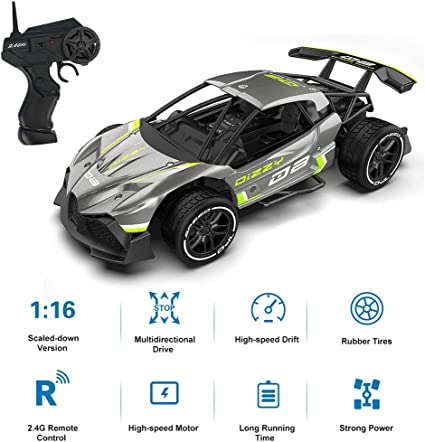 Amazon Com 1 16 Rc Car 2 4g Rc Drifter Alloy Remote Control Drift Car High Speed Racing Car Toy For Kids Toys Games