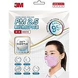 3M口罩 9501C KN95防护级别 95%过滤效率 耳戴式呼吸阀口罩 粉红色3只/包(2包装6只)(亚马逊自营商品, 由供应商配送)