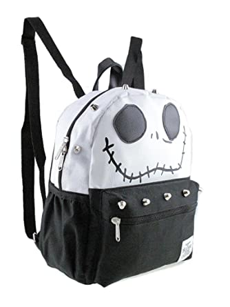 3b4d7a6739f Image Unavailable. Image not available for. Color  Disney Nightmare Before  Christmas Jack 12 quot  Silver Stud Small  Mini Backpack