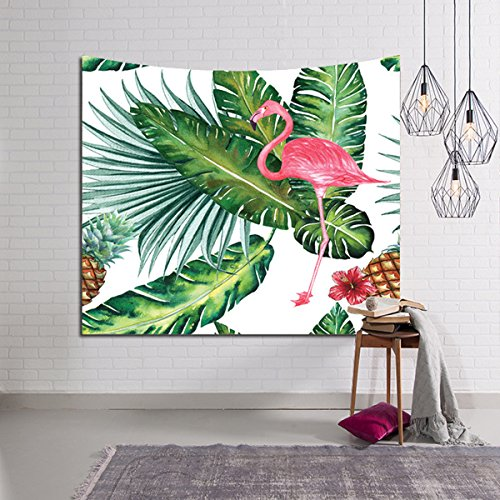 Pink Flamingo Tapestries, Kicpot Home Wall Hanging Tapestry Decor Collection Tropical Tapestries Design Wall Art Blanket for Bedroom Living Room Apartment House (Flamingo Wall Hanging)