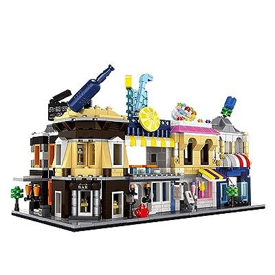 DUBIE Architecture Series Mini Street Shop Store Model Building Blocks Flower Restaurant Kids Toys Compatible Legoingly City: Toys & Games