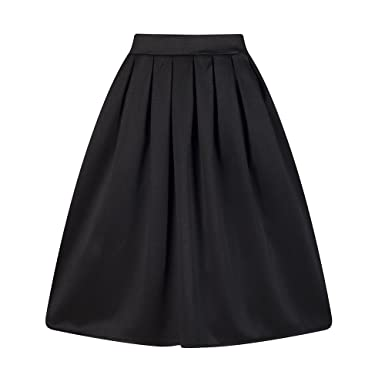Taydey A-Line Pleated Vintage Skirts for Women: Amazon.ca ...