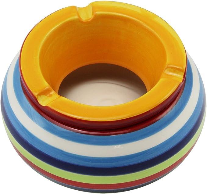 pour Bureau Int/érieur Ext/érieur Blanc Cendrier en C/éramique pour D/écoration Dext/érieur Premium Plat Petit Cendrier Angulaire en C/éramique avec Couvercle