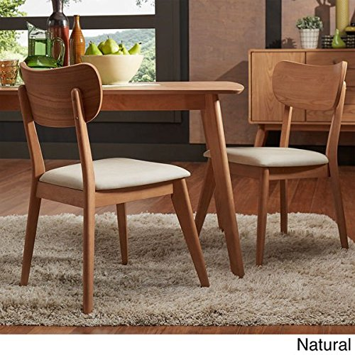 Penelope Danish Modern Tapered Leg Dining Chair (Set of 2) - Natural Finish