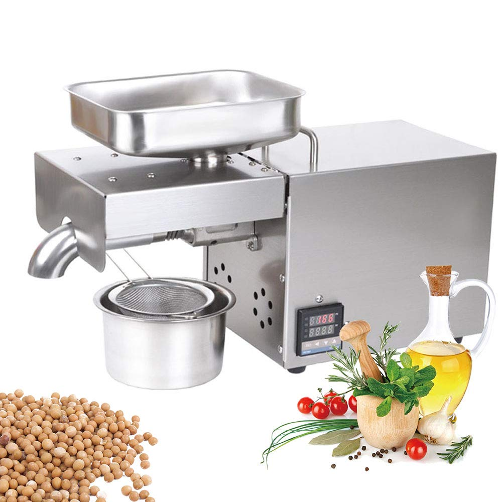 BMGIANT 600W Press Oil Machine Adjustable Hot Cold Oil Extractor Digital Display Automatic Oil Press Machine with Temperature Control for Home Commercial Peanut Walnut Sesame Sunflower Soybean Press