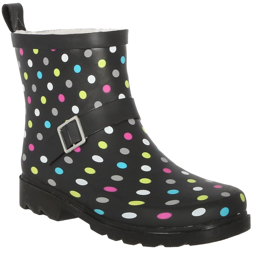Capelli New York Women's Matte Solid Rain Boot w/Ankle Buckle Strap RBT-3423