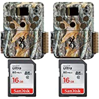 (2) Browning STRIKE FORCE PRO Micro Trail Camera (18MP) with 16GB Memory Card