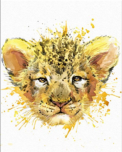7Dots Art. Baby Animals. Watercolor Art Print,