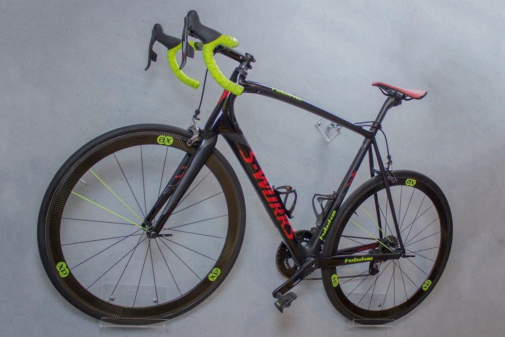 trelixx Fahrrad Wandhalter für Rennrad aus Plexiglas (gelasert ...