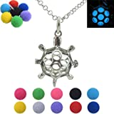 Amazon Price History for:Glow in the Dark, Pompoms Ball, Floating Locket, Sea Turtle Tortoise Locket Necklace for Kids, for Girls