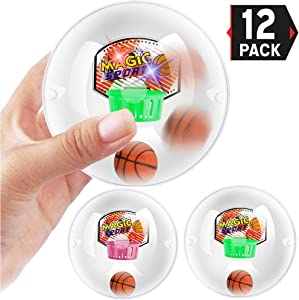 Liberty Imports Shoot a Basketball Mini Handheld Shooting Ball Electronic Game Party Favor Anti-Stress Novelty Toys with LED Lights and Sounds (12 Pack)