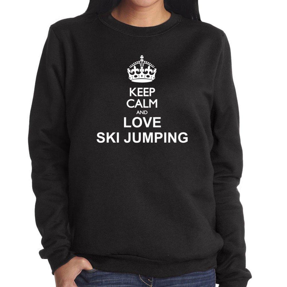 Keep calm and love Ski Jumping Damen Sweatshirt