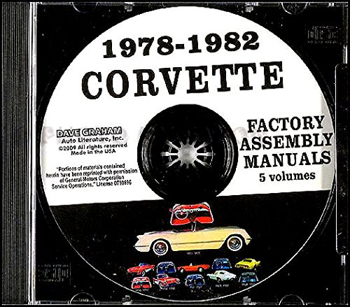 1978 1979 1980 1981 1982 CHEVROLET CORVETTE FACTORY ASSEMBLY INSTRUCTION MANUAL CD IN 5 VOLUMES - INCLUDES ALL MODELS. 78 79 80 81 82. CHEVY ()
