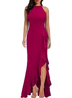 Amazon.com: HUUSA Vestidos de noche para mujer formales ...