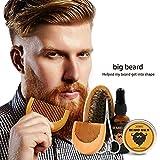 Beard Grooming Trimming Kit Beard Brush Comb, Unscented Beard Oil , Beard Balm Butter Wax, Shaping Growth Set For Men