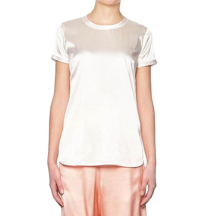 T-shirt in Seta Intenso 2 Pinko Bianca  Amazon.it  Abbigliamento 13156ef3d61