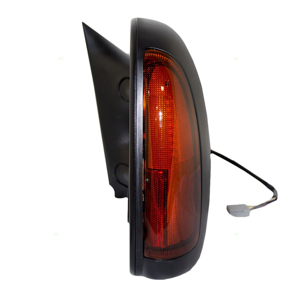 Passengers Telescopic Tow Power Side View Mirror Heated Signal Textured Replacement for Ford Pickup Truck SUV 5C3Z17682EAA