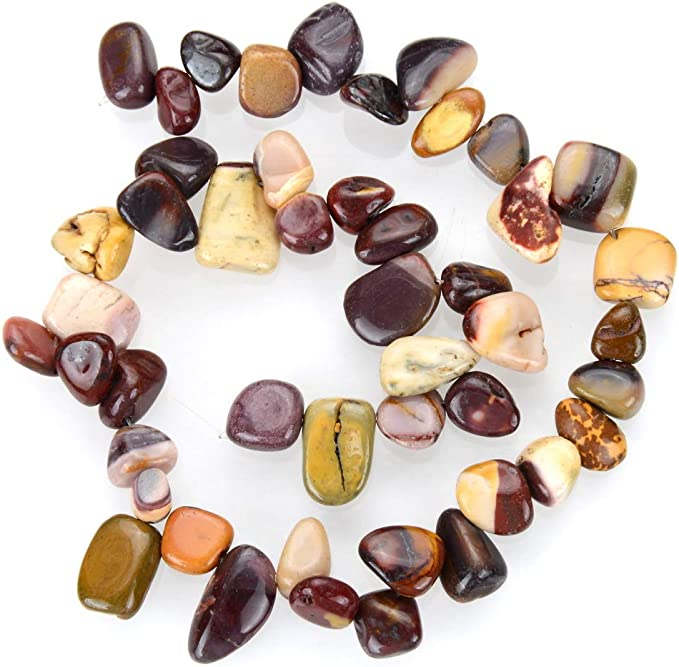 Pear Shape  Top side Drilled Beads 1 Strand Mookaite Cream and Chocolate Jasper Flat Beads Teardrop Beads DIY Crystal Healing 20x15mm