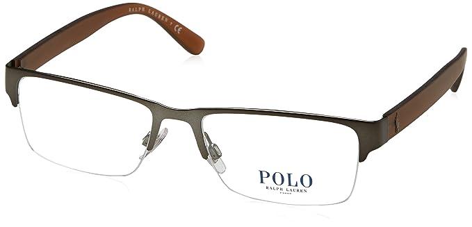 Amazon.com: Polo PH1164 Eyeglass Frames 9050-56 - 56mm Lens Diameter ...