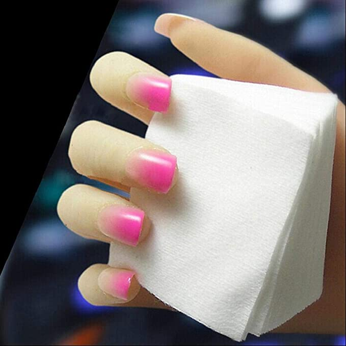 QUICKLYLY Uñas/Manicura-75Pcs Sin Pelusa Nail Art Gel Removedor De Esmalte De Algodón Almohadilla Para Uñas: Amazon.es: Belleza