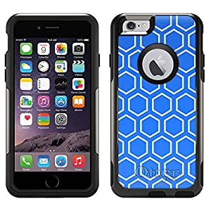 Skin Decal for Otterbox Commuter Apple iPhone 6 Case - Beehive Blue