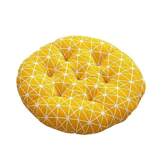 Wghz Cojín del Asiento Cojín Circular Amarillo Silla de la ...
