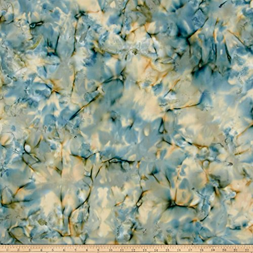 Island Batik Cotton Glacier Fabric By The Yard - Glacier Island