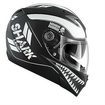 af466a73 HE0227EKKWXS - Shark S700-S Legion Mat Motorcycle Helmet XS Black/White (KKW